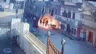 لحظه انفجار گاز در ساختمان مسکونی +فیلم / هند