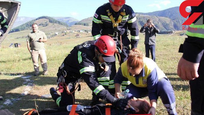 حادثه هولناک برای دختر ایرانی در کوهستان های گرجستان + عکس