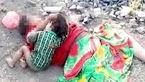 صحنه دردناک شیرخوردن کودک از جسد رها شده مادرش +عکس