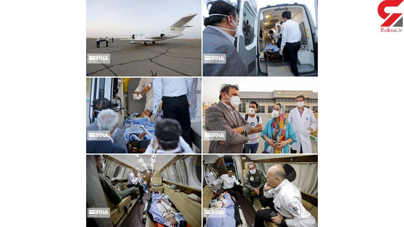 انتقال هوایی شکوفه سادات حسینی به تهران / برای او دعا کنید + عکس