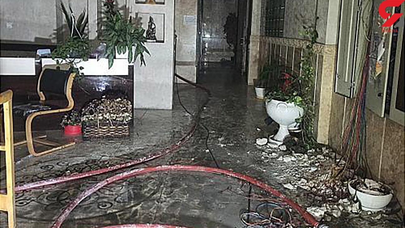مهار آتش و دود در ساختمان 6 طبقه اداری و تجاری