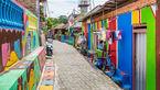 عجیب ترین نقاشی ها در روستای رنگین کمان+عکس