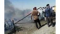 آتش سوزی وحشتناک ۸ خانه در هرمزگان + عکس