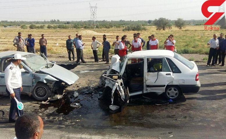 تصادف مرگبار زنجیره ای در زرقان فارس / 2 کشته و 4 زخمی