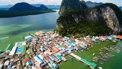 در سفر به این کشور سری به روستای زیبای شناور بزنید+عکس