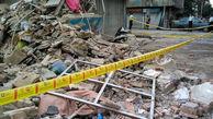 ریزش وحشتناک ساختمان قدیمی در خیابان جمهوری + عکس