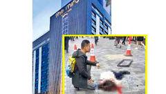 سقوط هولناک شیشه پنجره طبقه ۱۶ هتل بر سر یک زن عابر + عکس جسد در پیاده رو