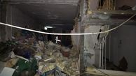 تخریب کامل ساختمان مسکونی در اثر نشتی گاز در کردستان
