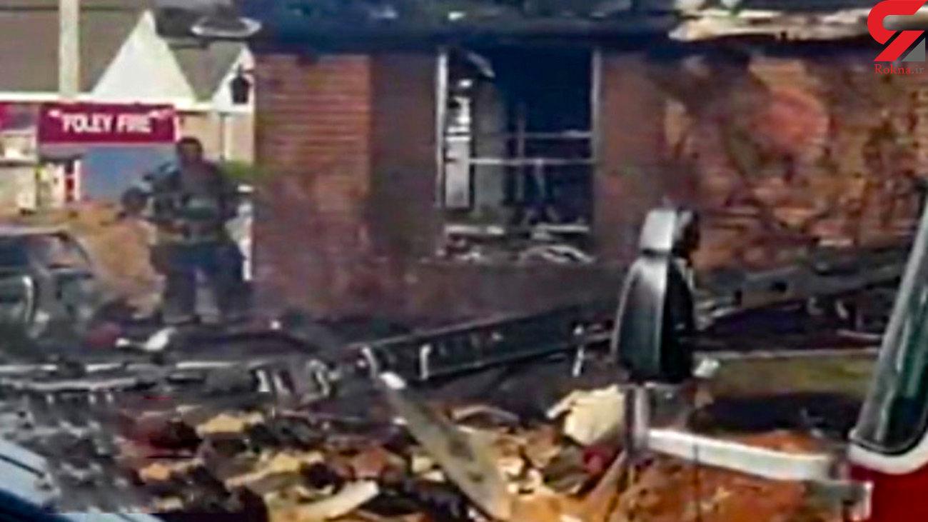 فیلم سقوط هواپیمایی که امروز دچار حادثه شد
