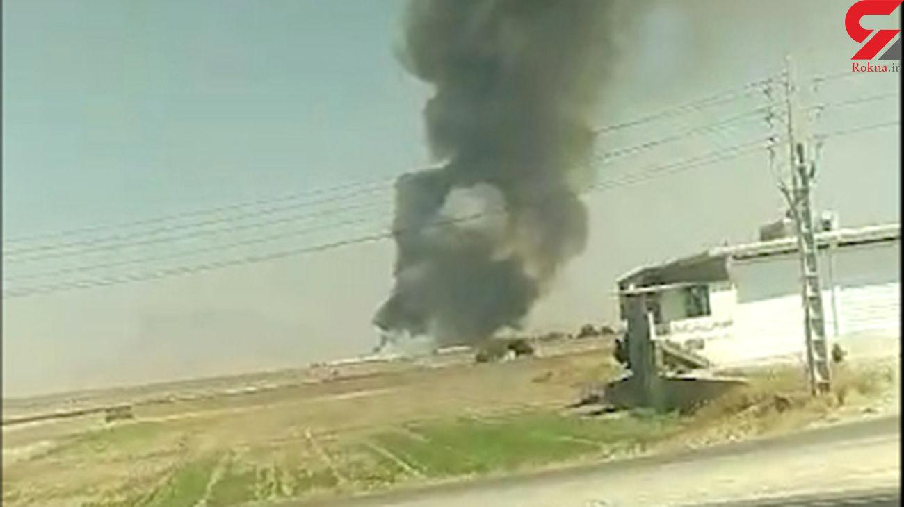 سقوط هلیکوپتر در مرودشت + فیلم