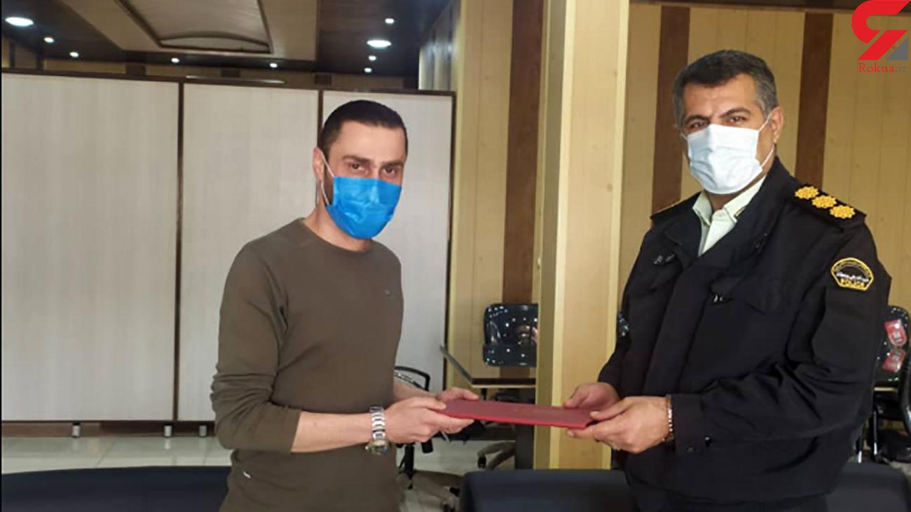 تجلیل رییس پلیس آبادان از خبرنگار رکنا در خوزستان + عکس
