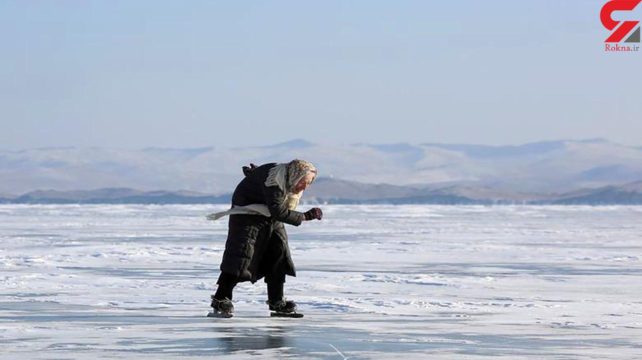اسکیت بازی این پیرزن روس را مشاهده کنید + عکس