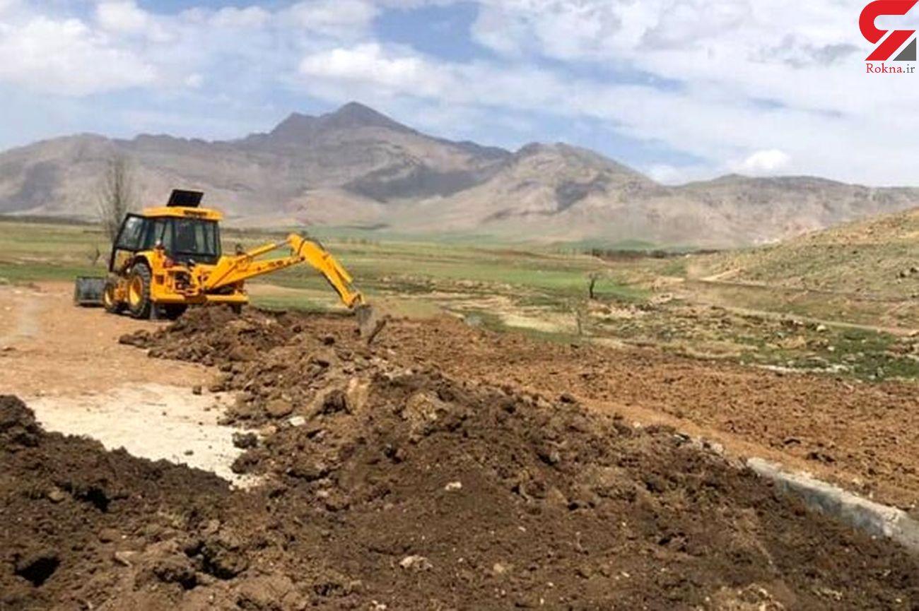 آزاد سازی ۲۵۰۰ متر مربع از اراضی حریم رودخانه «نیاز» دلفان
