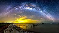 کهکشان راه شیری از فراز کوه فوجی+ تصاویر