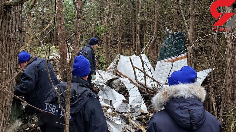 سقوط مرگبار هواپیما با 7 کشته+عکس