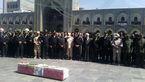 مراسم تشییع شهید سرباز پلیس در حرم امام رضا(ع) + تصاویر