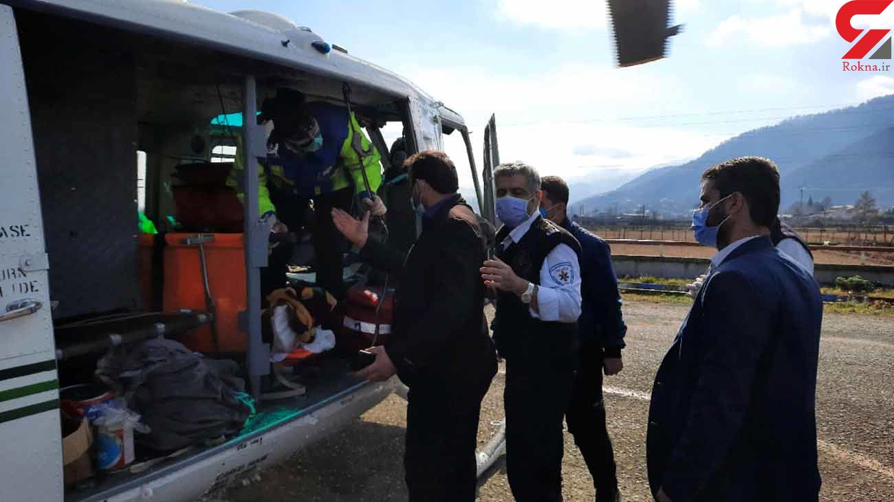 مجروحیت شدید مرد 63 ساله در تصادف / بالگرد هوایی  به پرواز در آمد + عکس