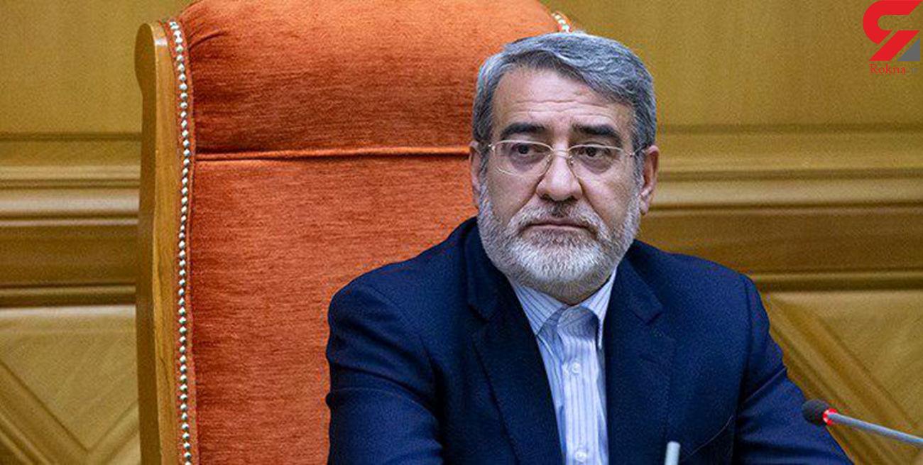 وزیر کشور عید فطر را به همتایان خود در کشورهای اسلامی تبریک گفت