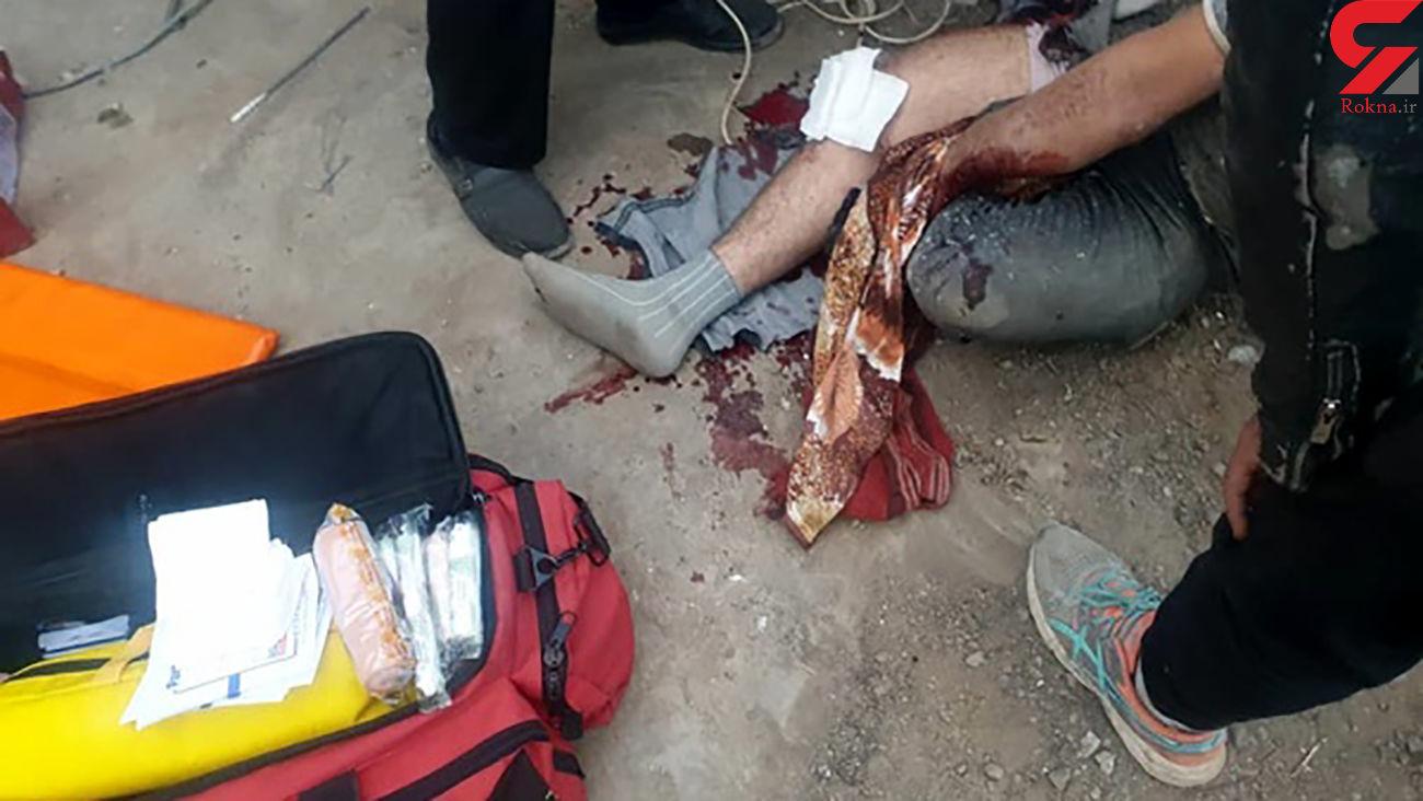 مصدومیت یک کارگر بر اثر انفجار بشکه در قزوین