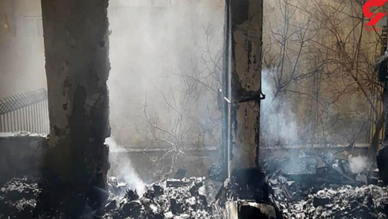 نجات نفس گیر 2 کرجی از میان دود و آتش / آن ها قصد پریدن از بالکن را داشتند