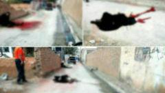 عکس جناره خونین زن چادری وسط کوچه / مرد عصبانی چرا همسرش را در خیابان امام کشت؟