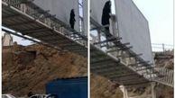 دختر نوجوان تبریزی اتوبان پاسداران را بست ! +تصاویر