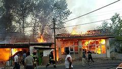 نانوایی سنگکی در «خیرآباد» ورامین آتش گرفت + عکس