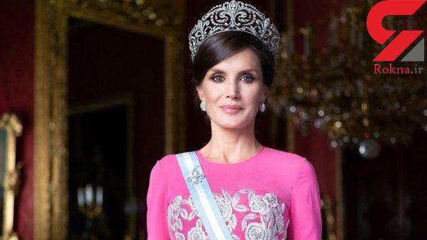 ملکه اسپانیا باز هم درخشید/ تیپ تازه لتیسیا غوغا کرد