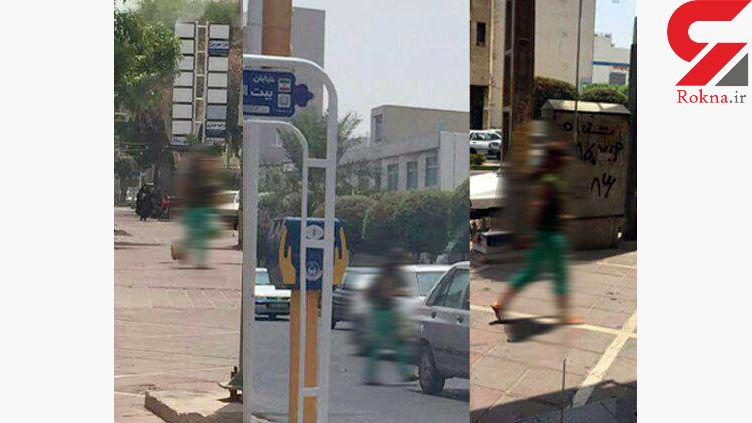 زن بی حجاب خیابان های بوشهر را به هم ریخت/پلیس این زن را دستگیر کرد+عکس زن در خیابان ها