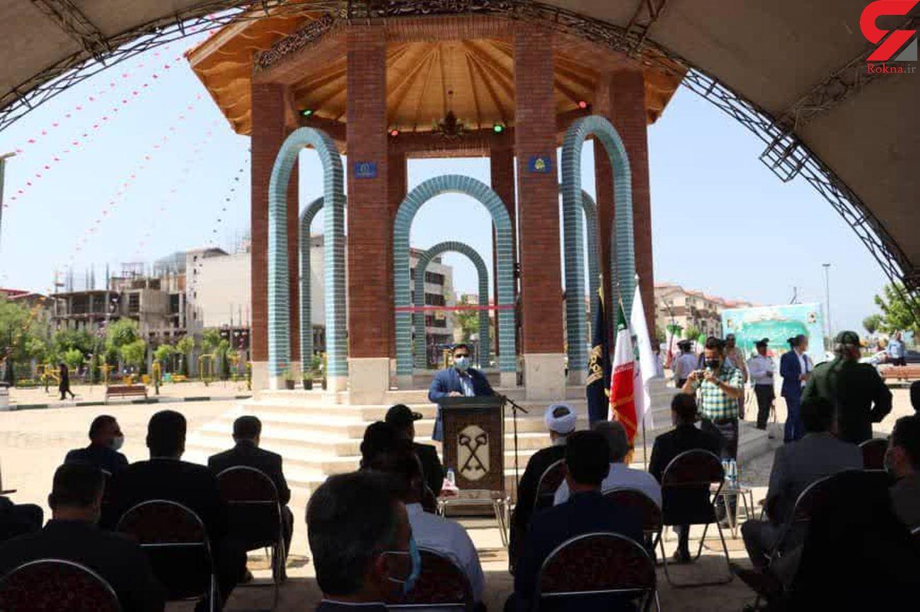 رونمایی از یادمان شهدای گمنام مسکن مهر رشت با حضور جمعی از مسئولان استانی