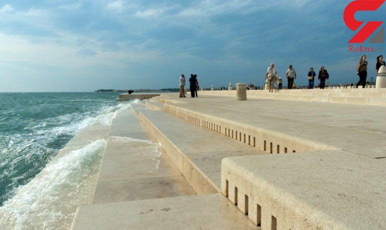 ساز جالبی که با امواج دریا و باد کار می کند+عکس