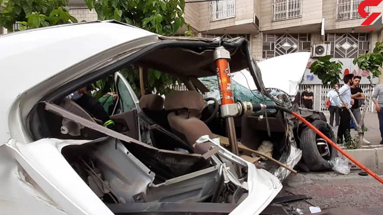 6 عکس از تصادف مرگبار پرشیا در بزرگراه آبشناسان + فیلم