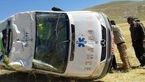 واژگونی مرگبار آمبولانس تویوتا در جاده صفاشهر +عکس عجیب