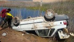 تصادف خونین 405 و پراید در جاده ابوشانک آبادان +تصاویر
