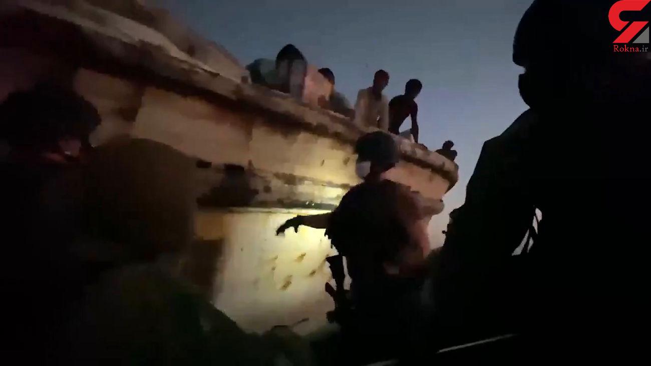 ناوشکن آمریکایی به شناور ایرانی کمک کرد + فیلم