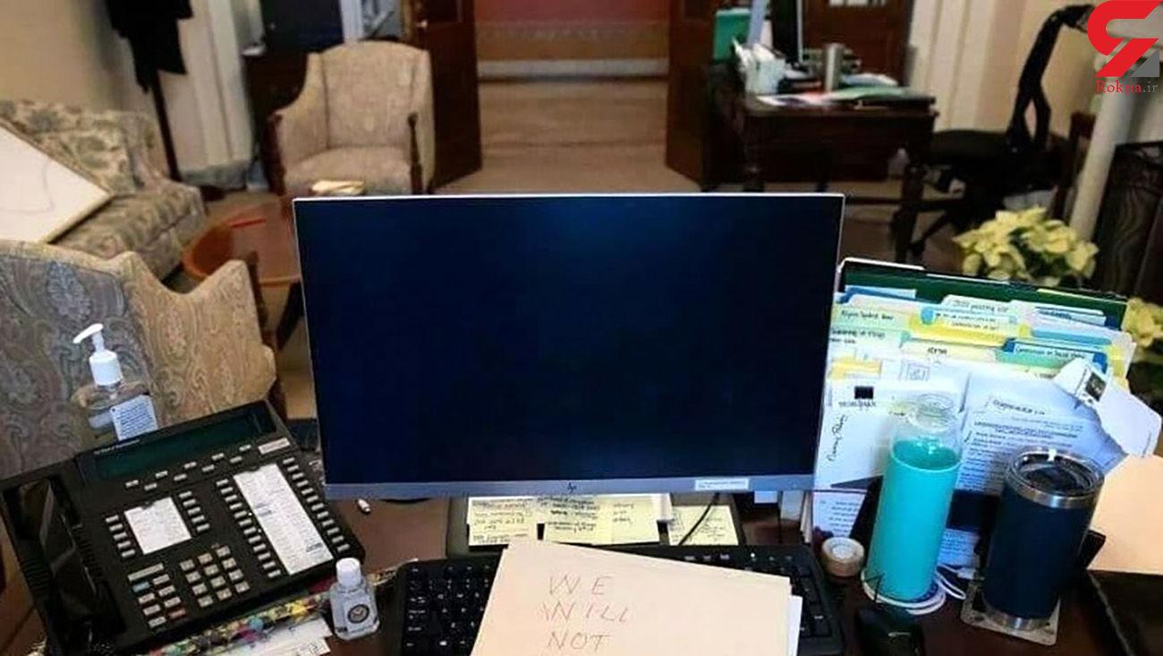 وضعیت اتاق کار نانسی پلوسی پس از تسخیر کنگره!+عکس