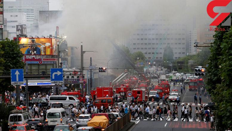 آتش سوزی مهیب در منطقه گردشگری ژاپن+ تصاویر