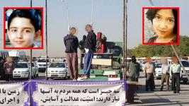 اولین عکس و فیلم از اعدام در ملاء عام قاتلان ندا و محمد حسین در مشهد