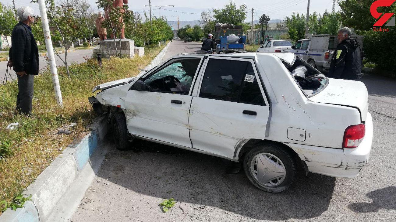 واژگونی خودرو پراید در محور قوچان به فاروج حادثه آفرید