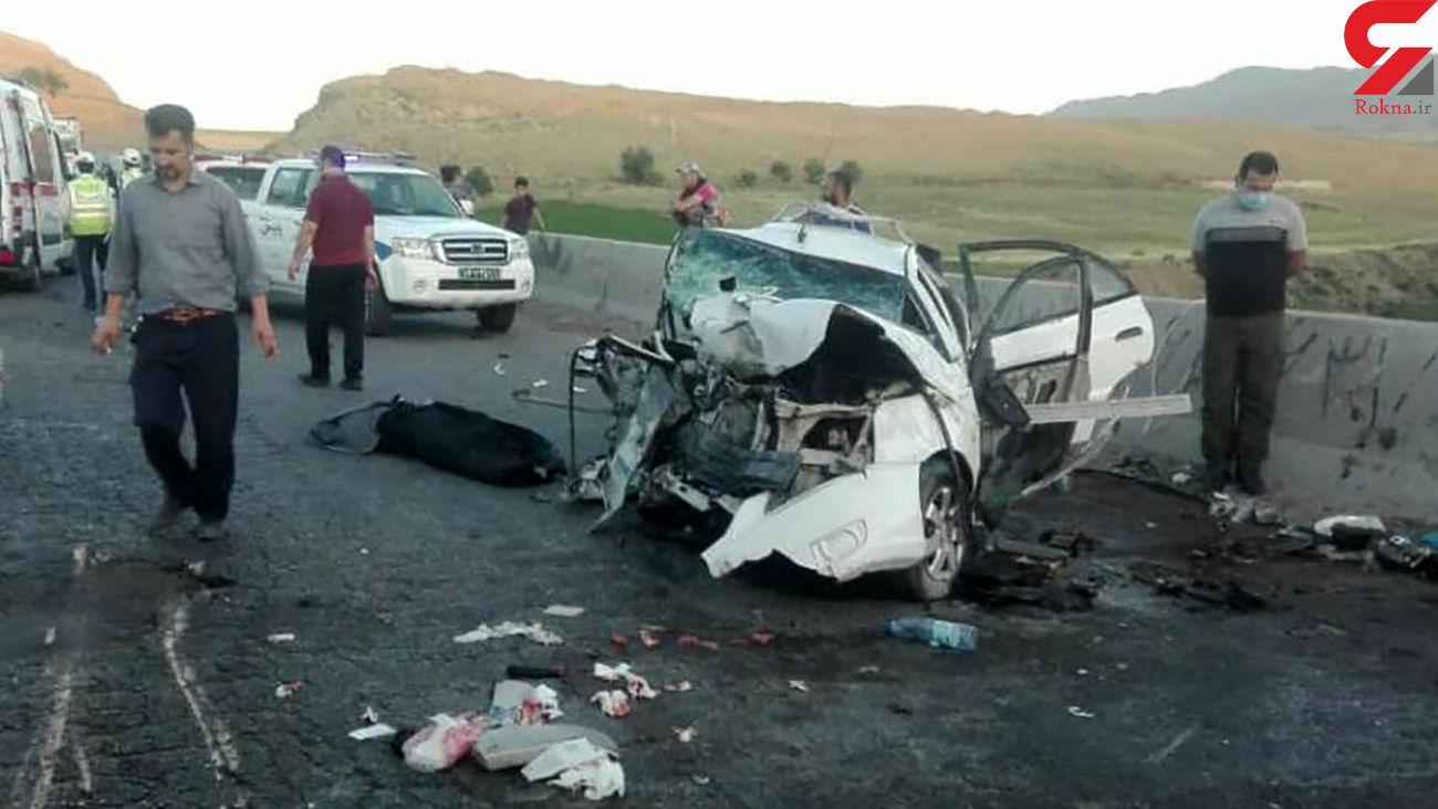 کشته شدن 4 تن در تصادف پژو 405 با پراید / در جاده گرمه رخ داد