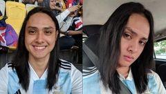 چهره زنانه مرد جوان خارجی در استادیوم دردسر ساز شد+عکس
