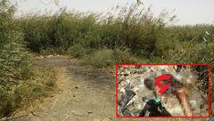 عکس جنازه مردی برهنه با دستی در گچ! / این آبادانی کیست؟! + جزییات