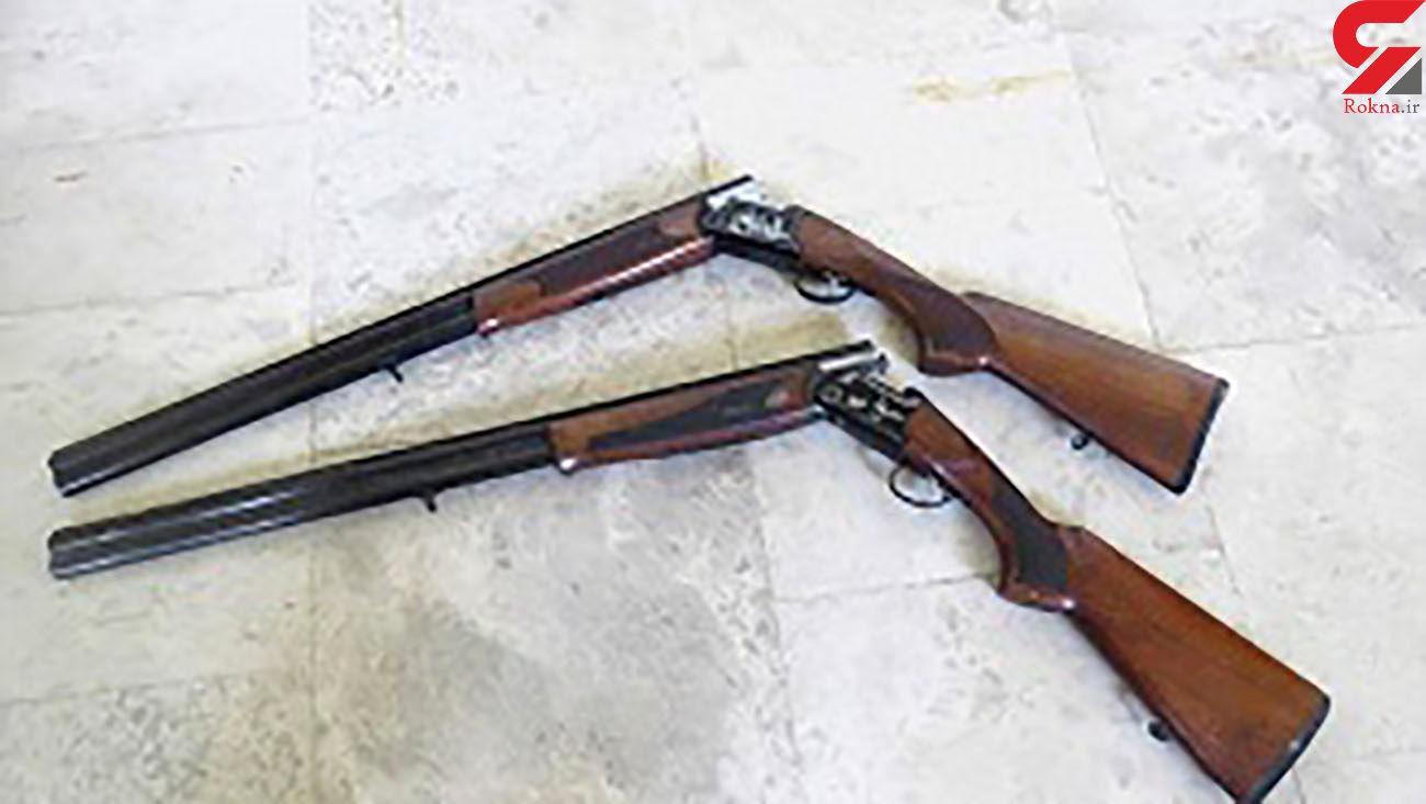 کشف 2 قبضه سلاح شکاری قاچاق در شهرستان بیله سوار