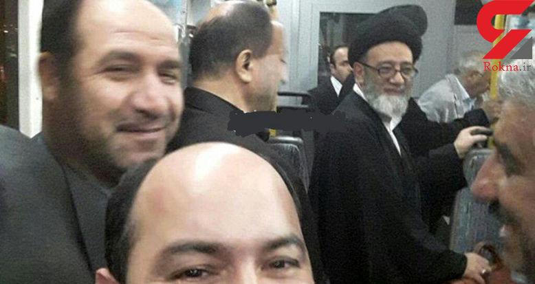 عکس جالب از امام جمعه تبریز در اتوبوس + عکس