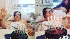 جشن تولد هنرمند سرشناس روی تخت بیمارستان+تصاویر