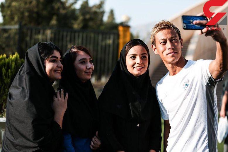 سلفی هوندا با دختران ایرانی قبل از ورود به استادیوم آزادی