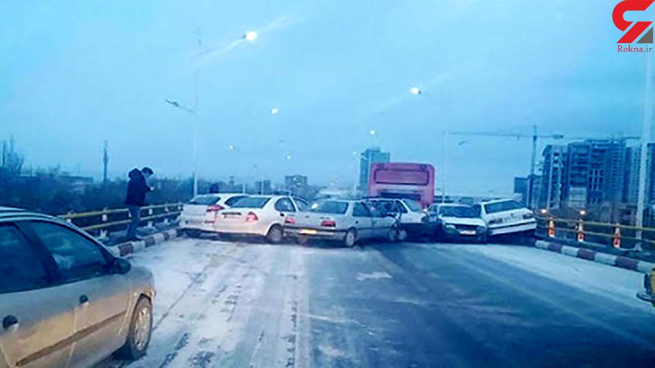 تصادف زنجیره ای در آزادراه قزوین-تهران 7 مصدوم در پی داشت