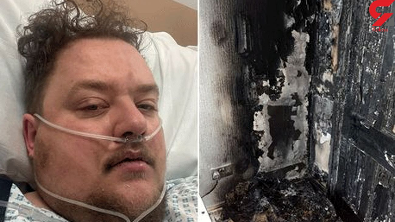 Man 'lucky to be alive' after jumping out of upstairs window to escape house fire