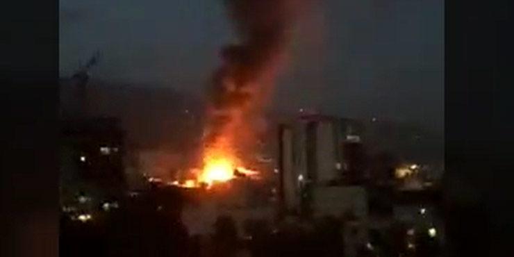 جزییات انفجار در شمال تهران / کلینک درمانی منفجر شد / مردم محبوس میان شعله های آتش + فیلم