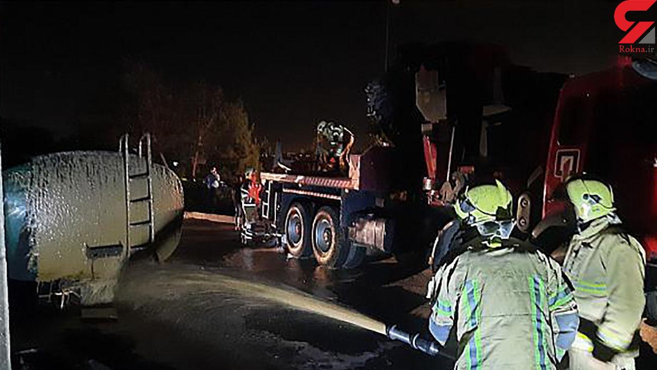 عکس های آتش سوزی تانکر سوخت بیخ گوش پالایشگاه تهران